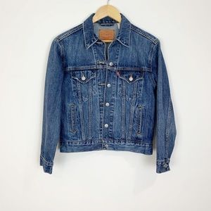 Levi's Blue Denim Jacket Size XS